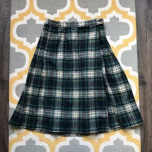 Vintage Pendleton Plaid 100% Wool Midi Skirt